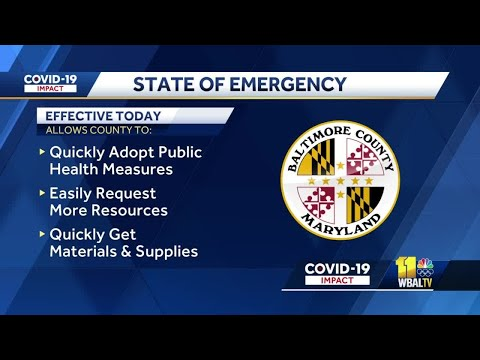 State of emergency declared in Baltimore County amid delta spike