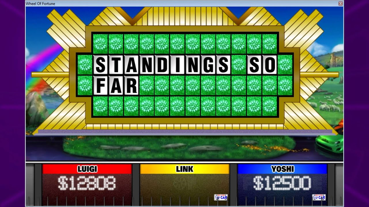 a green wheel of fortune game - youtube, Powerpoint templates