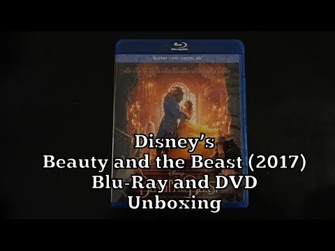Disney's Beauty And The Beast (2017) Blu-Ray And DVD Unboxing