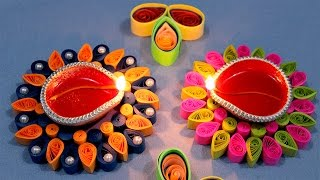 Paper Quilling Craft Tutorial # 6 - Diwali Special Diya Decoration @ jaipurthepinkcity.com