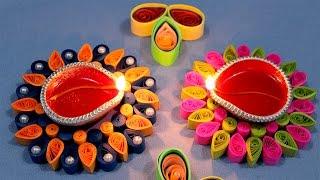 Paper Quilling Craft Tutorial # 6 - Diwali Special Diya Decoration @ jaipurthepinkcity.com