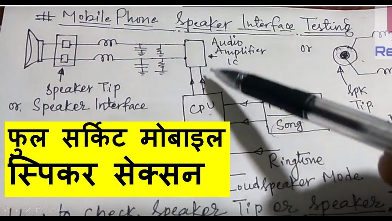 Circuit Diagram Fault Finding And Repairing Of Mobile Phone Front U Speaker Section In Hindi 2018