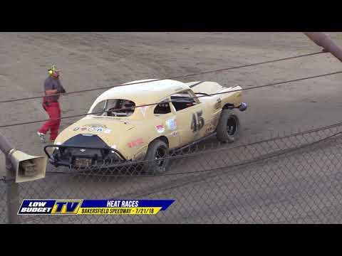 HEAT RACES: Bakersfield Speedway 7/21/18