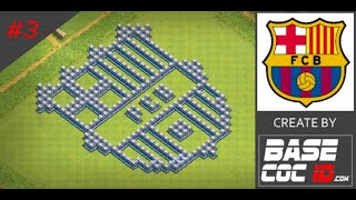 How to Make Fun/Troll Base FC Barcelona in Clash of Clans With Link #3