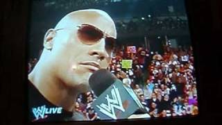 The Rock returns to Monday Night Raw 2-14-11