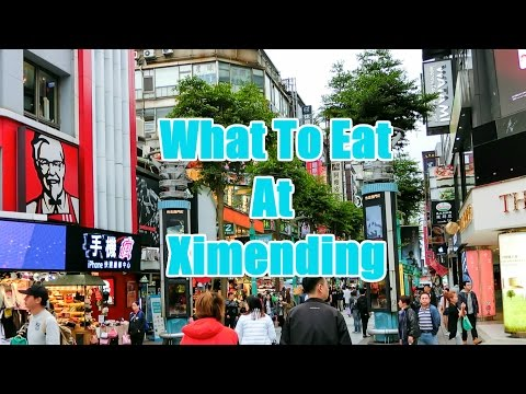 Ximending 西门町 at Taipei, Taiwan - 6 Must Eat Foods!