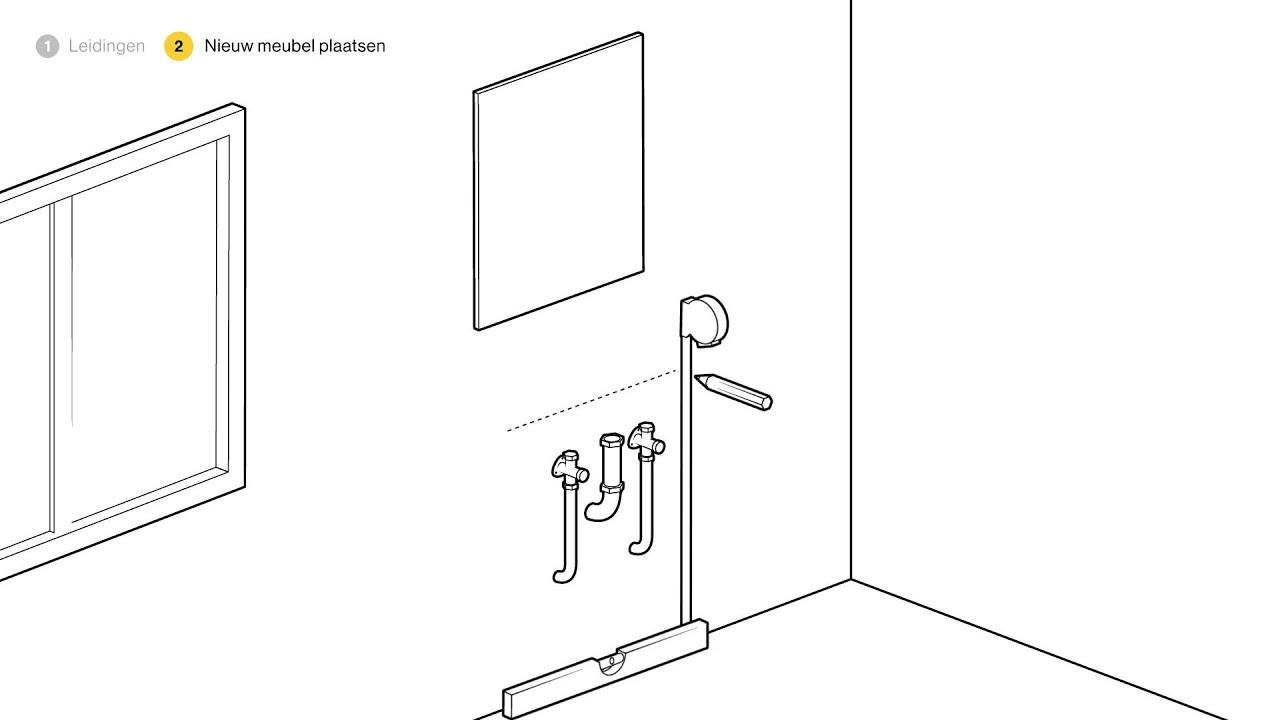 Badkamermeubel plaatsen - hoe ga je te werk? - YouTube