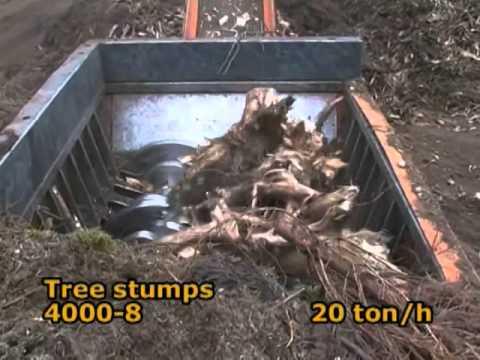m&j-preshred-4000m-waste-shredder-in-action---shredding-tree-stumps
