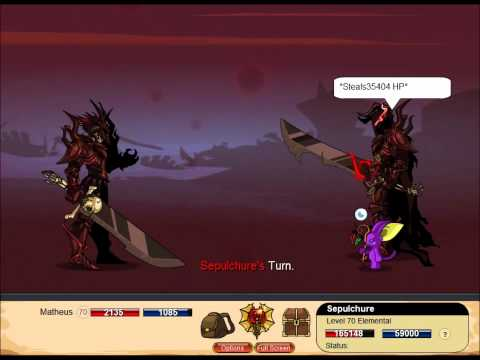 Dragon Fable - Sepulchure Defeated (Before last buff)