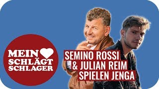 Semino Rossi und Julian Reim spielen Jenga