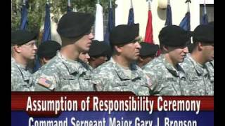 THE ARMY SONG - US Army Africa Assumption of Responsibility Ceremony  CSM Bronson - 090807