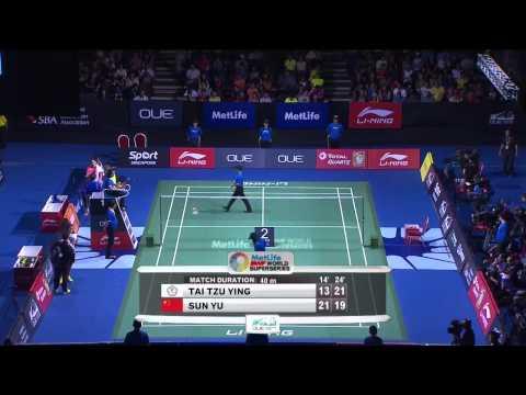 Tai Tzu Ying vs Sun Yu | WS F Match 4 - OUE Singapore Open 2015