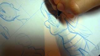 COMIC zeichnen - Entstehung eines Comics - Comiczeichner