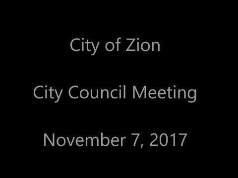 City of Zion   City Council Meeting   Nov 7 2017