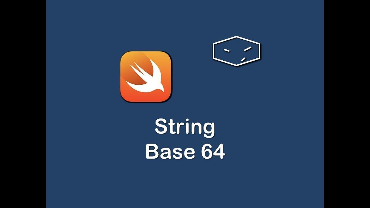 string base 64 in swift 3