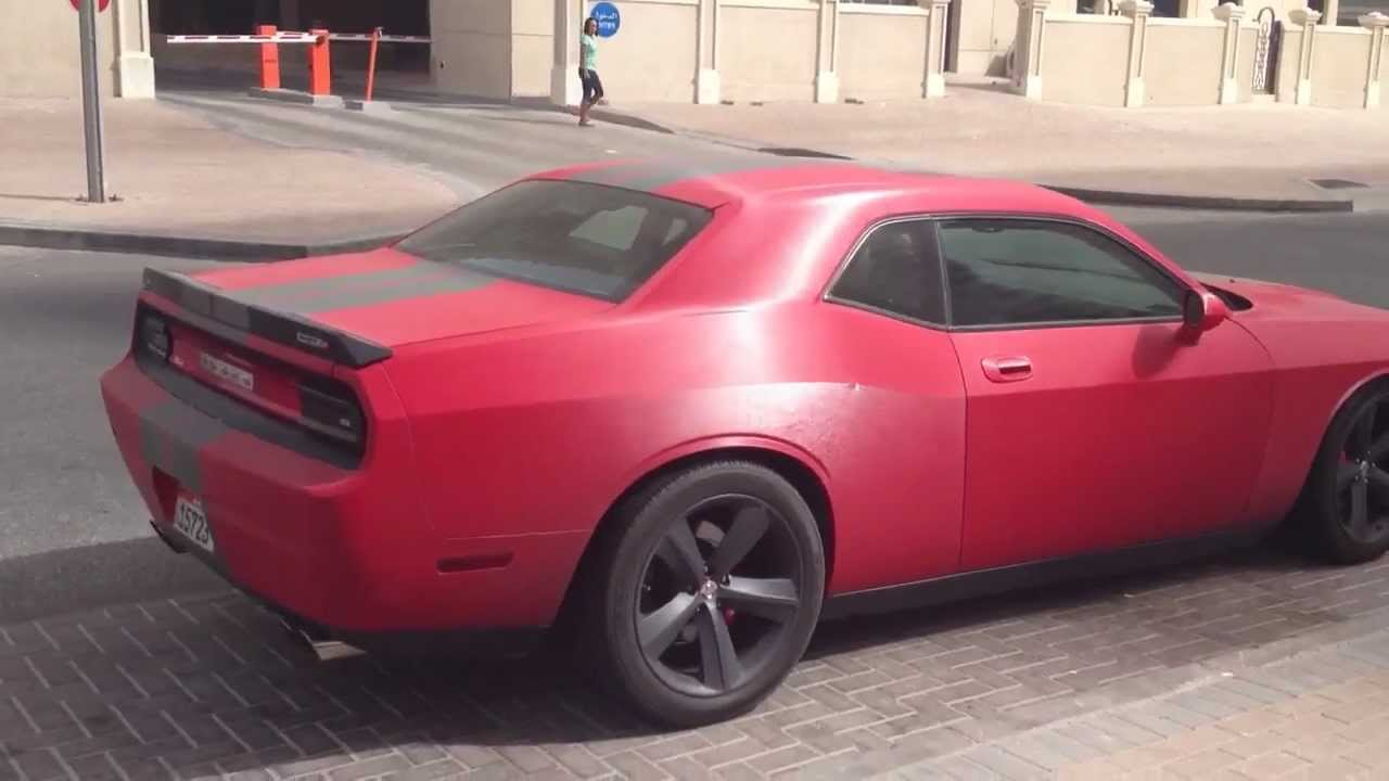 Gun Metal Matte Red Dodge Challenger Srt8 Youtube