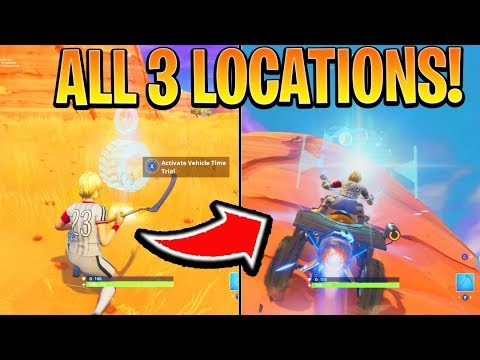3 Vehicle Time Trial Locations! Fortnite Battle Royale (Season 6 Challenge)