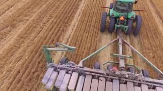 Rush Farms John Deere 7820 Tractor Planting Soybeans 2016 in Missouri DJI Phantom 3