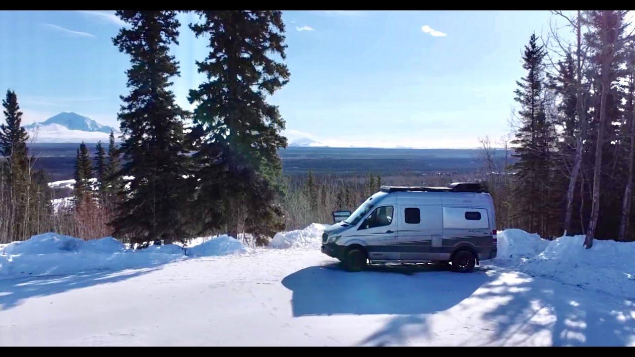 Winter Camping Alaska: Escape The Media   Winter Van Life ...
