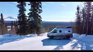 Winter Camping Alaska: Escape The Media  Winter Van Life