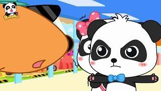 Baby Panda Protects Miumiu | Take Rainbow Train to Rescue Friends | Math Kingdom Adventure | BabyBus