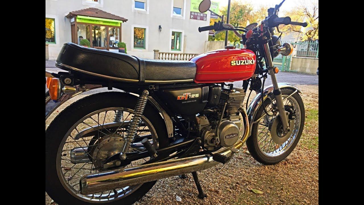 suzuki gt 125 2 temps 1978 une moto l gendaire youtube. Black Bedroom Furniture Sets. Home Design Ideas