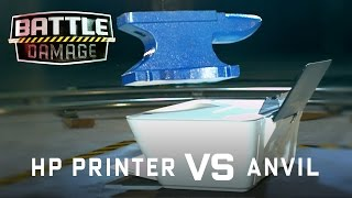 HP Printer vs. Anvil - WIRED's Battle Damage