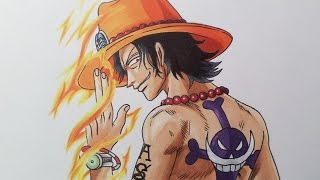 Drawing Portgas D. Ace - One Piece