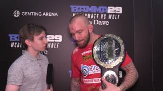 Terry Brazier BAMMA 29 Post-fight Interview