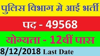 Indian Police Recruitment 2018, Police Vacancy 2018, Police Constable Recruitment 2018 19