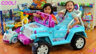 Power Wheels: Disney Frozen Power Ride-On Jeep Wrangler Walk Around Video