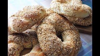 Настоящие турецкие бублики симиты/Turkish bagels Simit