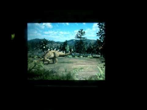 Dinosaur video at Natural History Museum of Berlin - Germany