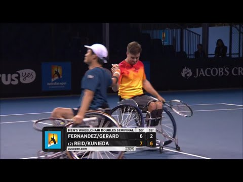 Fernandez/Gerard v Reid/Kunieda highlights (Men's WC Doubles SF) | Australian Open 2016
