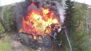 Rochester Fire Department Training Burn - Time Lapse & Aerial