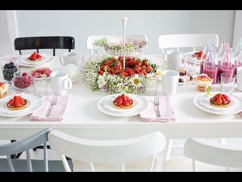 Diy Midsommar Tischdeko Blumenliebe Youtube