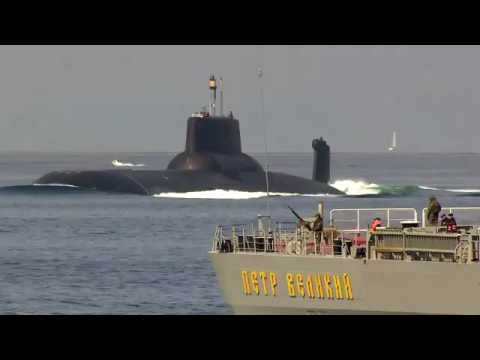 """Nuclear Battle Cruiser""""Peter the Great"""", SSBN""""Dmitry Donskoy"""" in the Danish straits"""