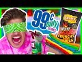 TESTING 99 CENT STORE FOODS BLIND-FOLDED!