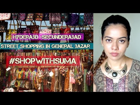 Street Shopping in General bazar Secunderabad |Suma Amujuri || #shopwithSUMA