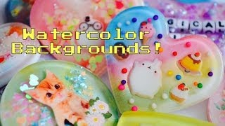 ✾Resin Tutorial: Watercolor/Pearl Backgrounds