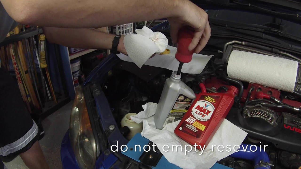 Subaru Power Steering Fluid Flush Change Atf Youtube