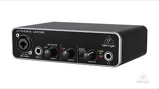 U-PHORIA UMC22 Audiophile 2x2 USB Audio Interface with XENYX Mic Preamplifier