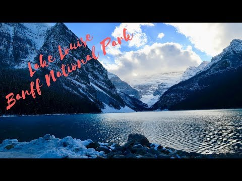 Drone Flight Lake Louise - Banff National Park - Alberta Canada