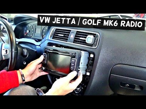VW JETTA MK6 RADIO REMOVAL REPLACEMENT VW GOLF MK6 2011 2012 2013 2014 2015 2016