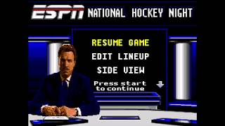 ESPN National Hockey Night SNES Gameplay - Los Angeles Kings vs Anaheim Ducks