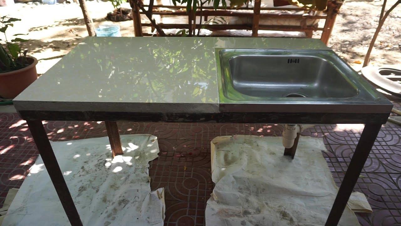 diy concrete kitchen sink outdoor sink