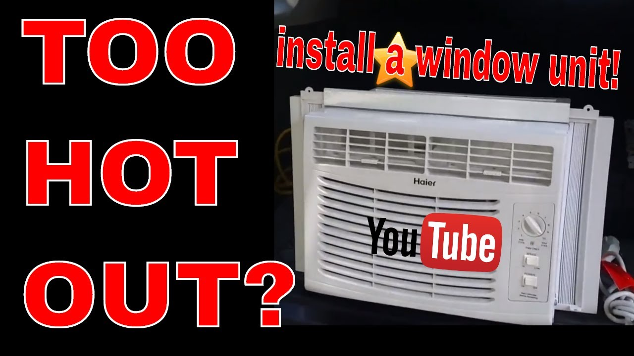 Haier 5000 btu Window Unit Air Conditioner Install & Review - HWFO5XCR