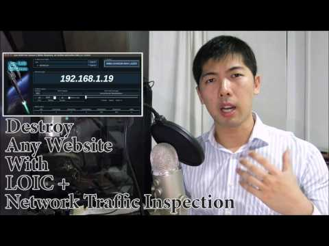 DoS Website With LOIC and Wireshark - YouTube