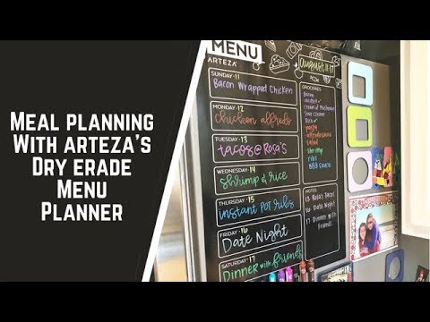 meal-planning-with-arteza's-dry-erase-menu-planner