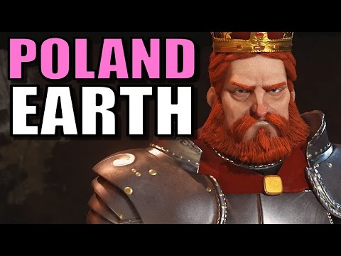Civ 6: Poland Gameplay [True Start Earth Location Map] Let's Play Civilization 6 Poland | Part 6